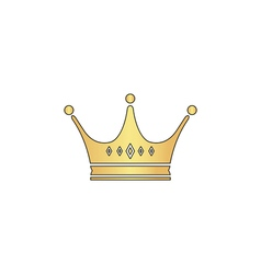 Crown computer symbol vector
