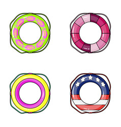 Different types of colorful swimming circles the vector