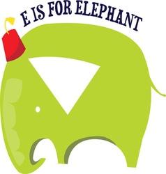 E for elephant vector