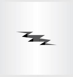 earthquake crack icon design element vector image