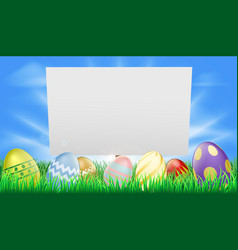 easter sign vector image vector image