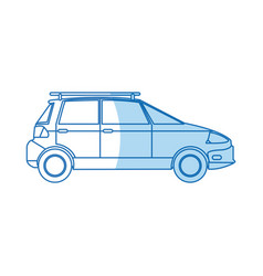 ecology car transport environment design vector image