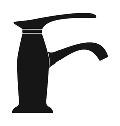 Faucet icon in black style isolated on white vector image