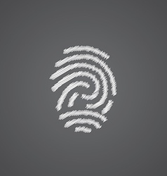 Fingerprint sketch logo doodle icon vector