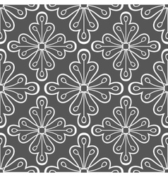 Geometric pattern with flowers vector