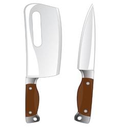 Knife and cutlass vector