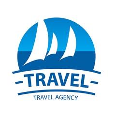 logo sailing yachts at sea vector image