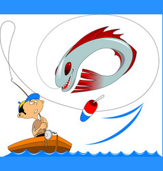 miracle fish vector image vector image