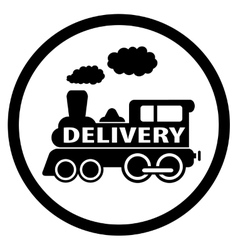 Moving train icon - delivery symbol vector