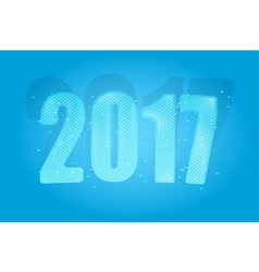 New Year 2017 Year of the Rooster Figures vector image vector image