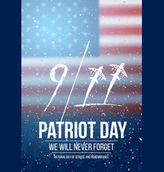 Patriot day poster september 11th national vector