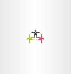 People team worker symbol icon vector