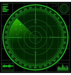 Radar screen EPS10 vector image vector image