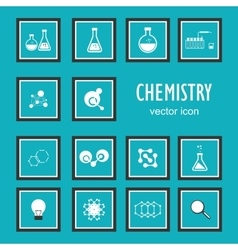 Set icons in chemistry biology medicine vector image