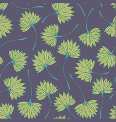 Stylized tropical branches seamless pattern vector