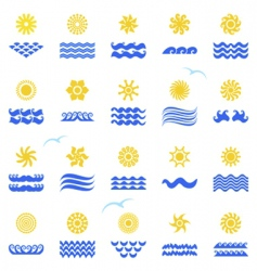 sunset collection vector image