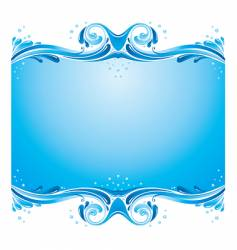 symmetric water splashes background vector image