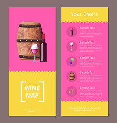 Wine map and your choice advantages poster icons vector
