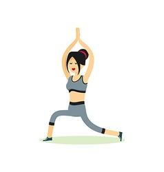 Girl posing pose yoga vector