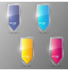 Glass arrows set vector image