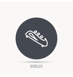 Bobsleigh icon three-seater bobsled sign vector
