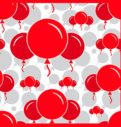 Red party balloon pattern on white background vector