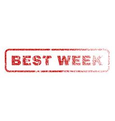 best week rubber stamp vector image