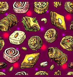 oriental sweets vector image
