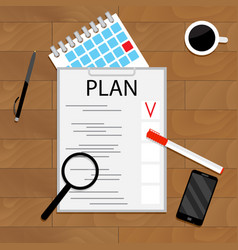 Monthly planning concept vector