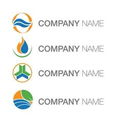 Environment energy logo vector