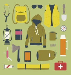 Camping and outdoors themed images vector