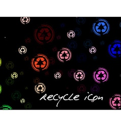 recycle pattern vector image