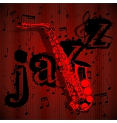 Saxophone on musical background vector
