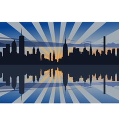 New york sunset profile vector