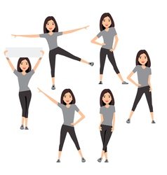 Fitness instructor a slender girl vector