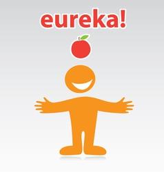 Eureka vector image