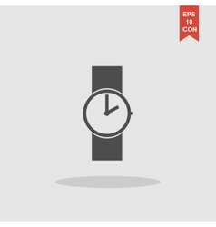 Wristwatch icon flat design style vector