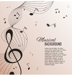 Paper background with music notes vector
