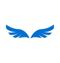 A pair of blue angel wings icon simple style vector image