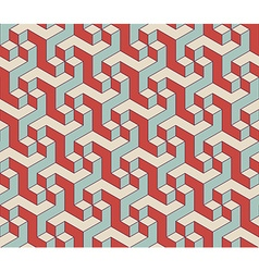 Abstract isometric 3d seamless pattern background vector