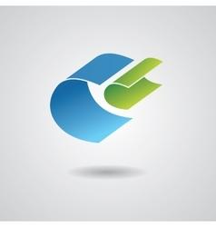 Abstract ribbon icon vector image