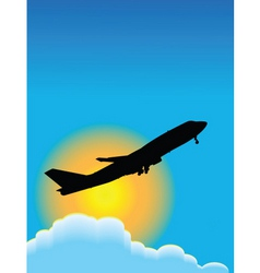 airplane travel poster vector image vector image