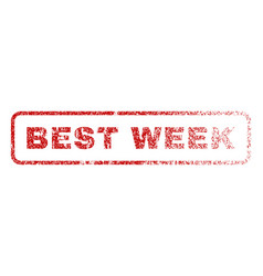 best week rubber stamp vector image