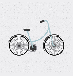 Bicycle hipster style isolated icon vector