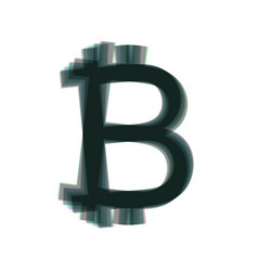 Bitcoin sign colorful icon shaked with vector