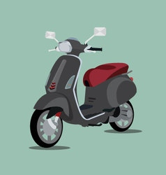 Black scooter 3d vector image