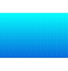 Blue geometric pattern with connected lines and vector image vector image