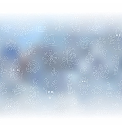 Blurred christmas background vector image