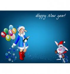 christmas celebration vector image vector image