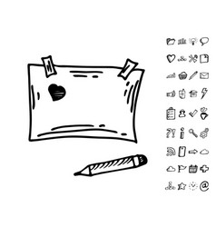 doodle note papers vector image vector image